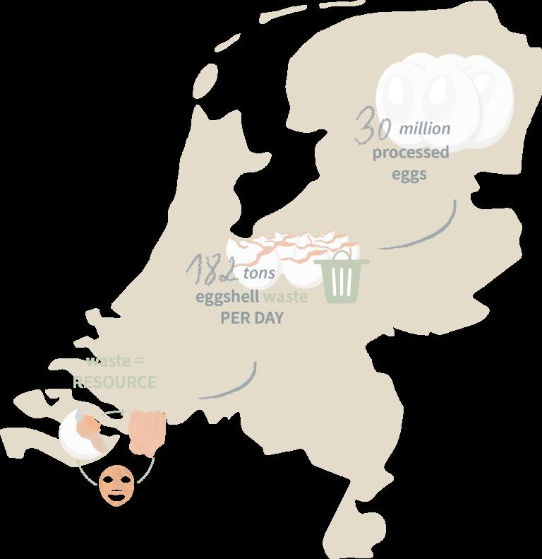 Netherlands eggshell waste map